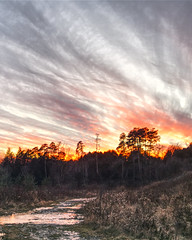 Sunset Path (Mike J Goodwin) Tags: sunset sky stream path outdoors winter olympus em10mkii em10markii canon fd50mmf18 fdlens vintagelens retro overbaked