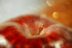 Apple with Bokeh (Small and Beautiful) Tags: lookingcloseonfriday apples bokeh macro earth tones shine