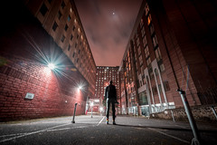 Whitefriars, Bristol, UK (KSAG Photography) Tags: night nightphotography city architecture urban february 2019 bristol uk unitedkingdom britain england europe somerset man person hdr wideangle nikon winter