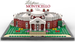 Thomas Jefferson's Monticello (Front) (dayman1776) Tags: thomas jefferson lego architecture afol monticello ideas creative classical toy moc microscale micro scale building history historical miniscale bricklink house home