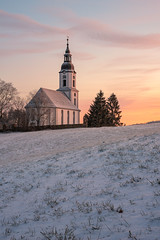 Winter Wonderland (r.oelschlegel) Tags: winter snow landscape church tree germany thuringia architecture travel sunrise