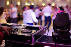 Dancing couples during party or wedding celebration (IrisPhotoStudio) Tags: wedding dj party gig microphone background celebration music dancing reception event happy white women marriage groom blur beauty people band male love happiness dinner romantic dress couple ceremony wife lights nightclub dance young decoration equipment instrument keyboard poland