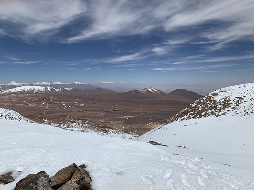 Summit of Cerro Toco (Stratovolcano - 5.604m or 18,386 ft), the Purico Complex, the Atacama desert, Antofagasta, Chile.
