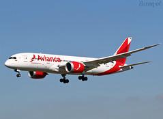 N793AV Boeing 787 Avianca (@Eurospot) Tags: n793av boeing 787 787800 avianca lebl barcelone