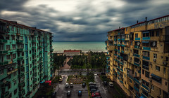 Before the Storm (free3yourmind) Tags: before storm clouds cloudy weather dramatic sky sea buildings city view batumi georgia architecture
