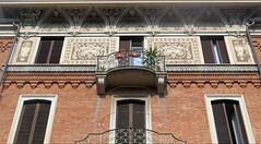 Art Nouveau / Liberty style in Torino [Explore 6/3/2019] (Sokleine) Tags: artnouveau libertystyle torino turin détails italie italia italy piemonte piémont windows fenêtres fenster balcons balconies explore