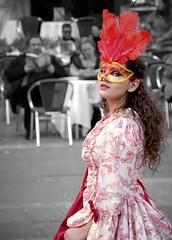 The beauty. (Fede_Bianchini) Tags: beauty girl venice venezia italy italia carnival colours blackandwhite bnw portrait canon mask event