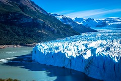 Perito Moreno glacier in Argentina.  One of the most amazing things we've ever seen.