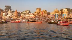Varanasi, India (Ninara) Tags: hindu india varanasi holycity ganges ghat boatride water boat uttarpradesh kashi benares