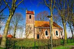 Enlightment Outside The Church (Alfred Grupstra) Tags: church architecture christianity religion old history ruralscene builtstructure buildingexterior chapel cultures sky europe spirituality outdoors tree village nature famousplace nopeople