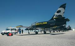 PaTRouiLLe BReiTLiNG - L-39S aLBaTRoS - TouLouSe (- PaTTGReGoR -) Tags: patrouille breitling l39s albatros toulouse avion jet plane tarmac piste aeroport saintmatin du touch acrobatique
