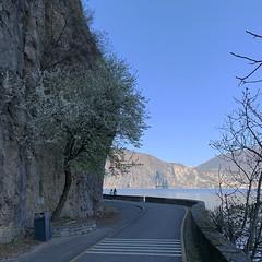 (Paolo Cozzarizza) Tags: italia lombardia brescia pisogne panorama acqua strada alberi roccia muro