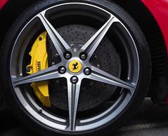 Ferrari wheel and brake (mike jennings 1) Tags: ferrari car wheel brakes steyning