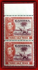 1938 Gambia King George VI (inferno55) Tags: gambia 1938 stamp