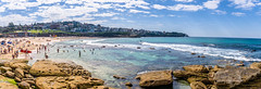 Weekend coastal walk (m0mbasa) Tags: australia sydney bronte skyline clouds kids surfer ocean wave rock landscape panorama