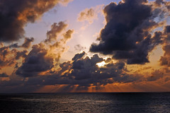 Todays sunrise (GRB39H) Tags: ocean florida sunrise sun clouds outdoors sea east beach colour color sky nikkor nikon nikond70 nature water art light crepuscular rays