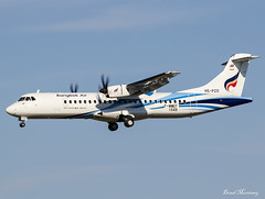 Bangkok Air ATR72-600 F-WWEF (HS-PZO) (birrlad) Tags: toulouse tls airport france aircraft aviation airplane airplanes airline airliner airlines airways arrival arriving approach finals landing runway airtest atr atr72 atr72600 turboprops prop fwwef hspzo bangkok air