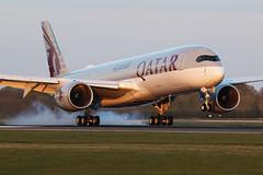 A7-ALX A350 Qatar MAN 130419a (John Higgins (EF)) Tags: aviation aircraft aviationphotography airlineindustry airline civilianaviation manchesterairport man egcc ringway 05rtouchdowns runway05r easterlies airbus airbusa350 a350 a350941 a7alx qatarairways qr21 doha dohainternational smokeytouchdown