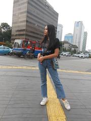 DSCN8747 (Avisheena) Tags: avisheena model outfit hello world town jakarta jeans adidas pose building photograph