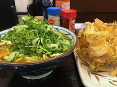 Curry Udon and a mixed vegetable tempura from Marugame Seimen @ Roppongi (Fuyuhiko) Tags: curry udon mixed vegetable tempura from marugame seimen roppongi カレー うどん 丸亀製麺 六本木 東京 tokyo toyko