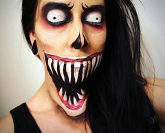 Awesome! By @andreachristineart (ineedhalloweenideas) Tags: halloween makeup make up ideas for 2017 happy night before christmas october 31 autumn fall spooky body paint art creepy scary horror pumpkin boo artist goth gothic amazing awesome