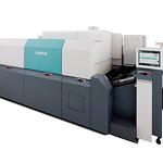 インクジェットデジタル印刷機の写真