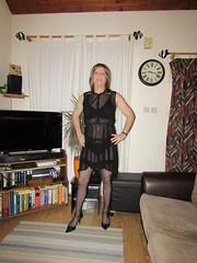 4-1-19 Sheer Black Dress (3) (Sarah Louise Taylor) Tags: gay gurl cd crossdresser tranny transvestite