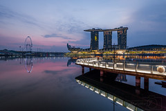 Sunrise at Merlion Park (Jazzfrey) Tags: sunset sunsets sky ig photography pics landscape clouds beautiful sunrise summer photooftheday love vision captures hub naturelovers skyporn photo instagood instagram landscapephotography bhfyp singapore nikondaily nikonsg