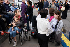 HOFFMAN_060902_3826_03 (hoffman) Tags: british england health infirmity uk unitedkingdom affliction disability disabled disablement disadvantage female festival handicap handicapped ill impairment impediment incapacitate incapacitated incapacity indisposition invalidity lady rights trafalgarsquare weakness wheelchair woman transport davidhoffman wwwhoffmanphotoscom london