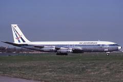 Z-WKS Gatwick 23-4-1984 (Plane Buddy) Tags: zwks boeing 707 airzimbabwe gatwick lgw