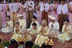 Ordination ceremony for novice Buddhist monks, Shwedagon Pagoda, Yangon (14) (Prof. Mortel) Tags: myanmar burma yangon rangoon buddhist pagoda shwedagon monks