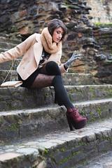 Pauline (Photoiste) Tags: shooting portrait portraiture canon 6d2 6dii 6dmark2 sigma sigma50mm beauty girl stairs escalier pierre outdoor natural light