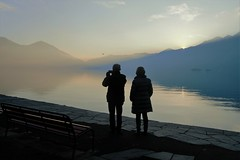 Sera sul Lago (mirella cotella) Tags: lake sunset mood landscapes water reflections atmosphere light travel places shadows