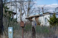 Return to sender - address unknown. Abandoned beach house, Cedar Beach, Delaware (adamkmyers) Tags: oncewashome returntosender abandoned beachproperty cedarbeach slaughterbeach delaware delmarva