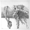 *Ropes and Spars* (Denish C) Tags: drawing graphite pencil paper art realism rope spar texture knot fishingboat outrigger
