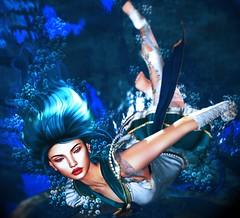 Heavenly Blue Waves (LiangScorpio) Tags: sailorneptune secondlife sl water ocean sea blue poem