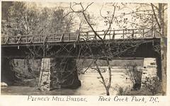Peirce's Mill Bridge (StreetsofWashington) Tags: peircemill bridges rockcreekpark postcards washington washingtondc