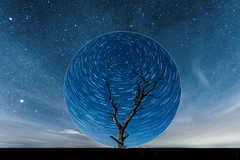 Crystal ball (Andy barclay) Tags: tree trees field country side landscape nature land horizon astro astrology astrophotography stars star space galaxy milkyway night cold nighttime winter dark sky nikon d7100 sigma 1020mm wide long park dusk grass