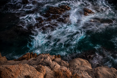 Love the feeling when the sea show its wildest face, and you are, in that moment, the only spectator (Nicola Ferro) Tags: sardegna sardinia mare sea seascape sunset longexposure photography photo nikon rocks cliff spray