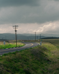 Turn (CalBingham) Tags: red landscape road sony a7rii canon 2470mm clouds
