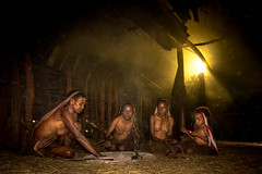 Inside Dani's Tribe House. (tehhanlin) Tags: dani tribe tribes people peoples culture portrait ngc sony wamena papua indonesia sukudani danitribe home house insidehouse cultures