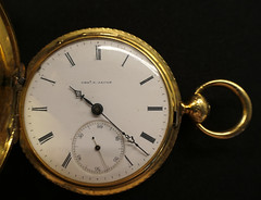 Carrie's watch - Explore! (Monceau) Tags: face clock mechanism pocketwatch watch elegant gold macro hands seconds minutes explore explored dial