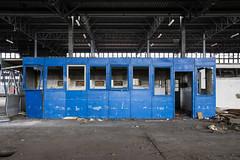 Bluetooth (The Urban Tourist) Tags: urbanexploration urbex abandoned blue abandonedfactory industrial