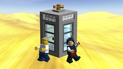 bill and ted's phone booth (Jacob Customs98) Tags: lego movie 2 time travel bill tedd phone booth moc digital designer