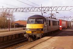 BRITISH RAIL 90138 (bobbyblack51) Tags: british railways class 901 gec design bobo electric locomotive 90138 railfreight distribution stafford station 1997