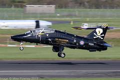 XX285 - 1979 build Hawker Siddeley Hawk T.1A, departing from Runway 30 at Prestwick (egcc) Tags: ck 100squadron 100years 111 41h312110 736nas egpk hawk hawkt1a hawkersiddeley jw191 jointwarrior jointwarrior191 lightroom pik prestwick royalnavy xx285