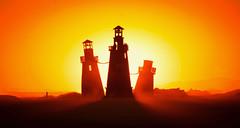 AMA! (Trey Ratcliff) Tags: burningman nevada treyratcliff stuckincustoms stuckincustomscom hdr hdrtutorial hdrphotography hdrphoto aurorahdr lighthouse art sculpture architecture sunset black rock city desert