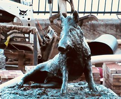 Happy 2019 Year of the Wild Boar East 57th St NYC 8916 (Brechtbug) Tags: happy 2019 year wild boar statue replica bronze porcellino completed 1634 by renaissance sculptor pietro tacca 1557 1640 the original is marble housed uffizi gallery florence italy this dude sits among ruins sutton place park east 57th street next river it supposed be simple renovation but that could take decades burg nyc 01012019 new york city