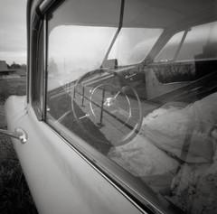Portland (austin granger) Tags: portland oregon car pinhole reflections interior vintage film woodbläk square