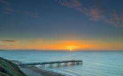Sun Split (nicklucas2) Tags: seascape beach boscombe bournemouth dorset sea seaside sand pier sunrise cloud